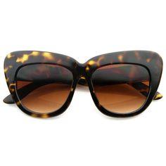 0ffc02f6f89 Oversized High Fashion Designer Inspired Bold Cat Eye Sunglasses Cateyes