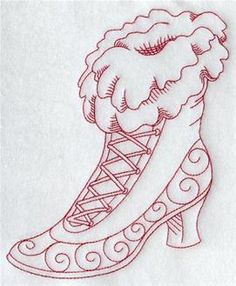 Redwork Embroidery Machine Embroidery Designs at Embroidery Library! Embroidery Materials, Folk Embroidery, Embroidery Transfers, Embroidery Patterns Free, Learn Embroidery, Hand Embroidery Stitches, Silk Ribbon Embroidery, Vintage Embroidery, Embroidery Techniques