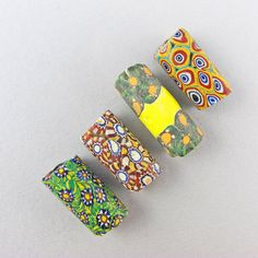Antique African Trade Beads 4 Venetian Millefiori by Goodoldbeads, £18.50