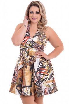Vestido Plus Size Tribal Etnico #Fashion