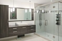 Armoire Design, Double Vanity, Bathroom Lighting, Mirror, Bathroom Ideas, Furniture, Rooms, Home Decor, Washroom