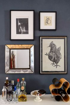 I like how even a small mirror can help open up a space and serve as a piece of art.  #refinery29 http://www.refinery29.com/homepolish-writers-brooklyn-retreat#slide-8