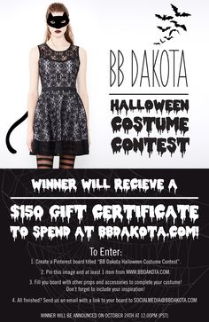 #bbdakota #halloween #CostumeContest #pinToWin #officalrules (Be sure to include this image in your board!)
