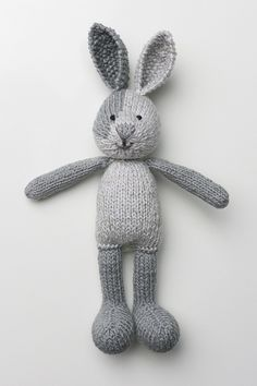 Boy Bunny, in the buff by msmmumbles, via Flickr Pattern: Boy Bunny with a Piebald Patch, by Little Cotton Rabbits  http://littlecottonrabbits.typepad. co.uk/knitting-patterns/
