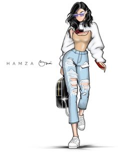 #KylieJenner @hamzaokai| #FashionIllustrations| Be Inspirational ❥|Mz. Manerz: Being well dressed is a beautiful form of confidence, happiness & politeness