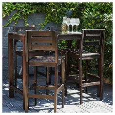"""Acquire excellent tips on """"bar tables and stools""""x. They are actually offered for you on our internet site. Bar Height Patio Set, Outdoor Bar Height Table, Outdoor Bar Sets, Diy Outdoor Bar, Outdoor Ideas, Outdoor Spaces, Outdoor Pub Table, Patio Bar Table, Outdoor Bar Stools"""