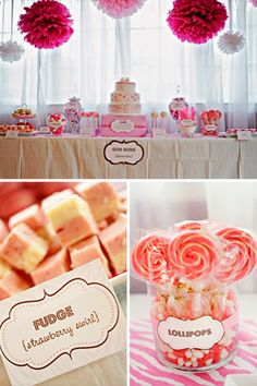 Retro Pink Candy Themed baby Shower