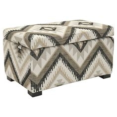 Oversized Storage Ottoman - Great idea instead of a coffee table, especially with the baby. Could use silver trays on top