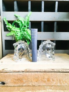 Vintage bookends glass horse head clear decor equestrian | Etsy Western Decor, Horse Head, Equestrian, Bookends, Westerns, Horses, Accent Furniture, Glass, Beautiful