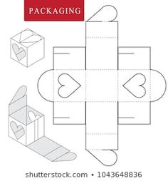 de origami Package for bakery.Vector Illustration of Box. Isolated White R.Vector Illustration of Box. Isolated White Retail Mock up. Diy Gift Box, Diy Box, Christmas Ornaments To Make, Diy Christmas Gifts, Box Packaging Templates, Packaging Ideas, Diy Paper, Paper Crafts, Paper Box Template