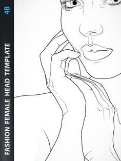 Fashion Female Head Template for Fashion Hairstyle, Jewelry or Make-up Design. Fashion Figure Templates, Fashion Design Template, Fashion Figure Drawing, Drawing Fashion, Fashion Illustration Template, Body Template, Body Sketches, Evolution Of Fashion, Female Head