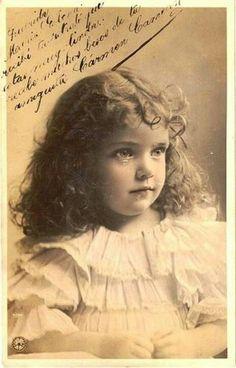 Sweet little girl from long ago
