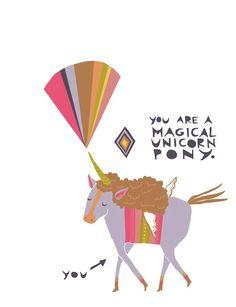 eres un poni magico