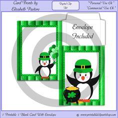 Irish Penguin Printable / Blank Cards #penguin #animallovers #animals