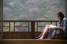 Enjoying a suite with a private hotspring bath in Hakone, Japan