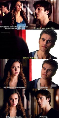 TVD Damon and Stefan and Elena