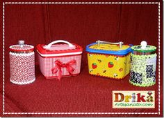 Potes de sorvete decorados e algo mais • Drika Artesanato - O seu Blog de Artesanato!