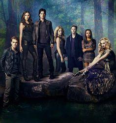 Stefan, Elena, Damon, Rebekah, Matt, Bonnie, and Caroline