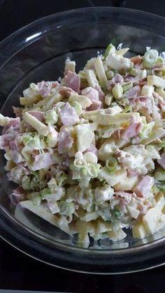 Lauchzwiebel-Käsesalat