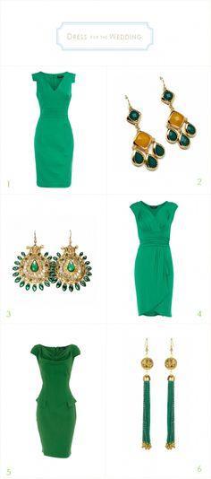 Emerald Green Dresses for a Wedding