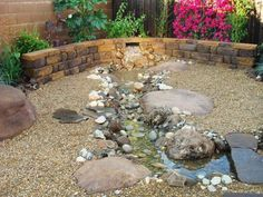Creating a stream: useful tips and lively suggestions Garden Stream, Rain Garden, Ponds Backyard, Backyard Landscaping, Garden Ponds, Fish Pond Gardens, Flower Tower, Japanese Koi, Water Features In The Garden