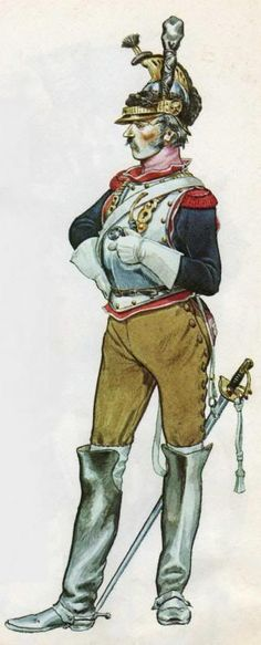 A Trooper of the 10th Cuirassiers, campaign dress: