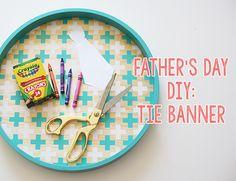 Laço do dia da bandeira do Pai DIY - Inspirado por este