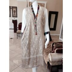 Creme silk with gold thread work perfect for a party day or night - available at www.jiya-designs.com