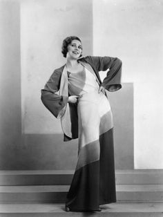 A fashion model wearing a youthful catsuit and matching jacket, 1925. #vintage #fashion #1920s