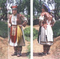 Albanian Folk Costumes - Veshje Popullore Shqiptare. Young woman dress. Mirdita costume.