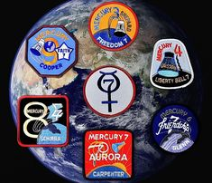 space mission patches | Mercury Mission patches at the Space Store.