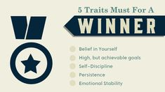 5 Traits Must for a Winner- Dark blue signifies power and knowledge Corporate Presentation, Presentation Slides, Red And Grey, Dark Blue, Warm And Cool Colors, Shades Of Teal, Self Discipline, High Contrast, Color Schemes