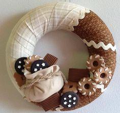 Wreath with mini chalks - by La bottega delle Idee di Lecco
