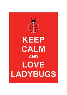 Keep Calm and Love Ladybugs Insect illustration art  print by simplygiftsonline, $10.80