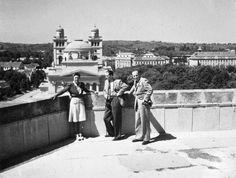 látkép a Líceum teraszáról, háttérben a Főszékesegyház.