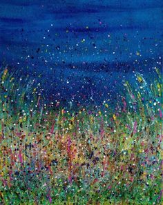 ARTFINDER: Midnight Blush by Komal Madar - Inspired by Nature, impressionistic in style to capture the beautiful colours that exists in Nature. For me this painting gives an impression of a celebratio...