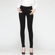 2016 Hot Sale Fashionable Women Leggings High Waist Solid Ladies Leggings Pencil Pants With Variety Of Colors Plus size S-XXXXL