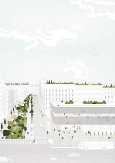 Tirana 2030: Watch How Nature and Urbanism Will Co-Exist in the Albanian Capital,The city will encourage shared mobility and public transport. Image Courtesy of Attu Studio
