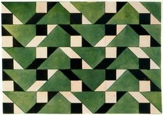 Liubov Popova, textile design, geometric pattern green white and black Geometric Patterns, Graphic Patterns, Geometric Art, Print Patterns, Floral Patterns, Motifs Textiles, Textile Patterns, Textile Prints, Art Deco Pattern