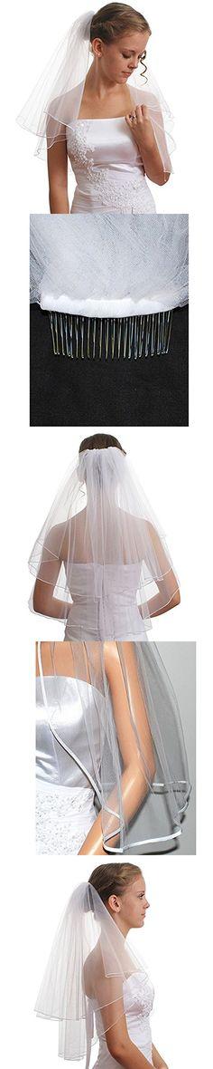 Beauty Bridal Tulle Sheer Short Wedding Bridal Veils for Bride