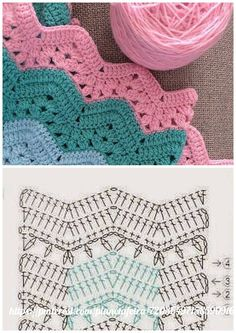 Přihlášení - Her Crochet Zig Zag Crochet, Crochet Pillow Pattern, Crochet Ripple, Crochet Motifs, Crochet Diagram, Crochet Stitches Patterns, Crochet Chart, Baby Blanket Crochet, Crochet Designs