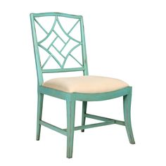 Bungalow 5 Evelyn Side Chair in Green Rustic Dining Chairs, Elegant Dining Room, Dining Room Chairs, Side Chairs, Kitchen Chairs, Dining Rooms, Dining Table, Chippendale Chairs, Green Furniture