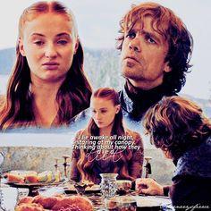114 Likes, 22 Comments - 𝔊𝔞𝔪𝔢 𝔬𝔣 𝔗𝔥𝔯𝔬𝔫𝔢𝔰 👑 Tyrion And Sansa, Catelyn Stark, Northern Girls, Got Memes, Nerd Stuff, Housekeeping, Otp, Jon Snow, Movie Tv