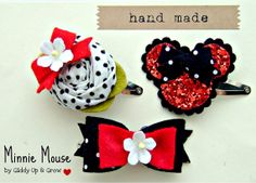 cute bows for my little minnie mouse lover