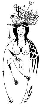 scarletimprint_pomba gira. Brazilian goddess of the night.