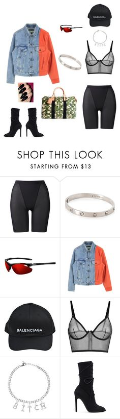 """ratchet queen"" by rylizzlmynizzl ❤ liked on Polyvore featuring Uniqlo, Cartier, Tifosi, Balenciaga, La Perla, Louis Vuitton and adidas Originals"