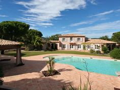 Charming provencal property in the countryside of Ramatuelle with Helipad - http://www.aiximmo.ch/property/charming-provencal-property-in-the-countryside-of-ramatuelle-with-helipad/- Surrounded by vineyards and old majestic pine trees this property stands for the charm of Provence, quietness and tranquillity. The charming Mediterranean villa is situated on a spacious land of 1 ha with pool, tennis and helipad. Complete privacy just beside the beach of Ramatuelle.  Main House
