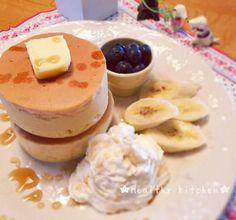 日本人のおやつ♫(^ω^) Japanese Sweets 牛乳パックで作るおうちで簡単!絶品スフレのパンケーキレシピ