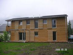 Dřevěná fasáda z sibiřského modřínu a profilu RHOMBUS 19x95 mm