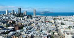 Taken from the floor of the Fairmont Hotel San Francisco. Beautiful view all the way out to Alcatraz. Fairmont Hotel San Francisco, 13th Floor, San Francisco Skyline, Travel, Beautiful, Viajes, Destinations, Traveling, Trips